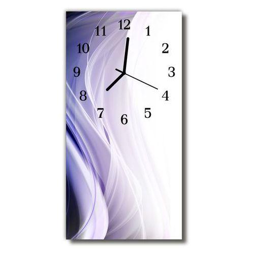 Zegar Szklany Pionowy Kuchnia Abstrakcja linie purpurowy, kolor fioletowy