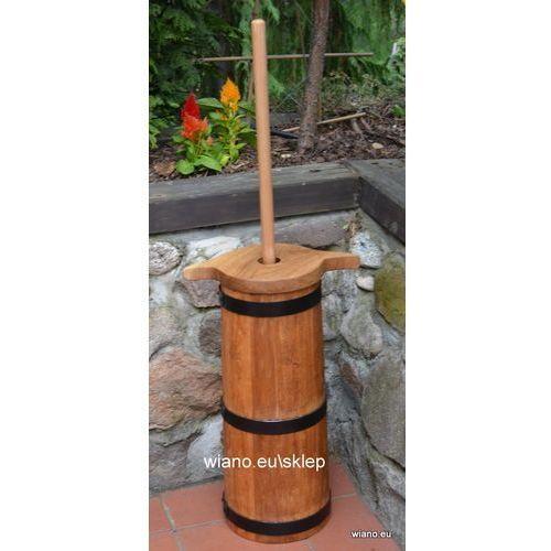 Twórca ludowy Kierzanka (maselnica) duża, dębowa - naczynie klepkowe ręcznie robione, 10 l