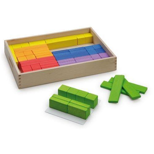 Zestaw kolorowych drewnianych klocków do nauki - zabawki dla dzieci