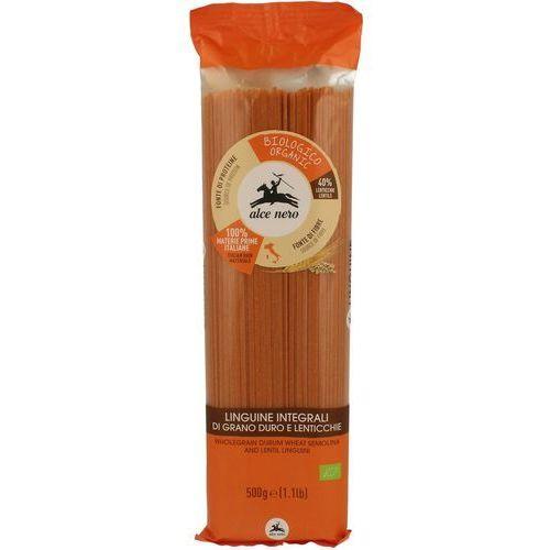 Alce nero (włoskie produkty) Makaron (semolinowy z czerwoną soczewicą) spaghetti bio 500 g - alce nero (8009004812932)