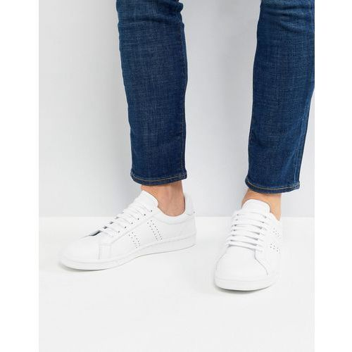 Fred perry b721 leather trainers in white - white