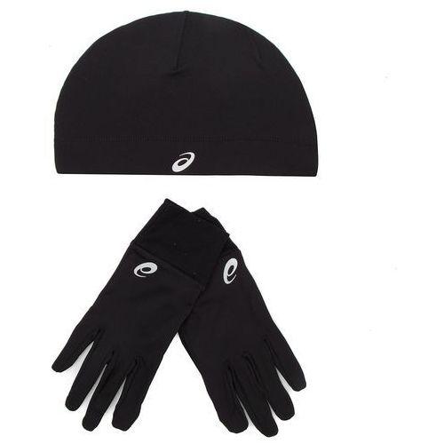 Zestaw czapka i rękawiczki - running pack 3013a035 performance black 001 marki Asics