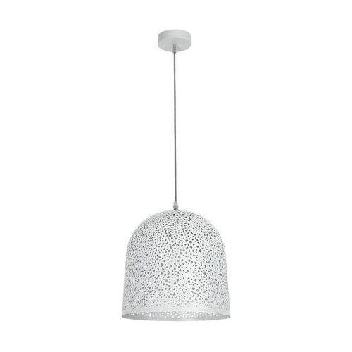LAMPA wisząca GERDA 5910 Rabalux metalowa OPRAWA ażurowy ZWIS biała