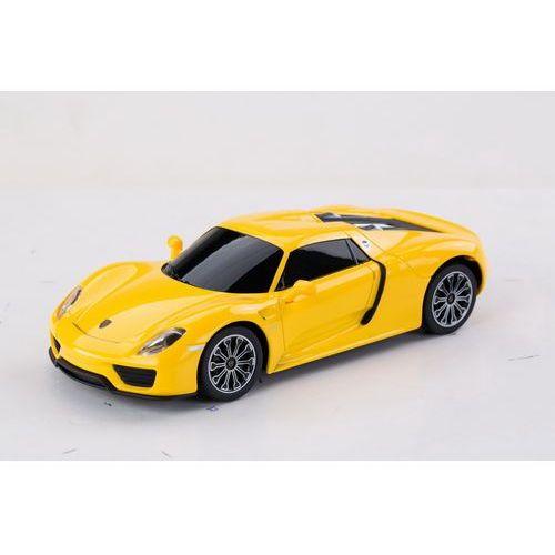Rastar, Porsche 918 Spyder, samochód zdalnie sterowany, żółty, 1:24, kup u jednego z partnerów