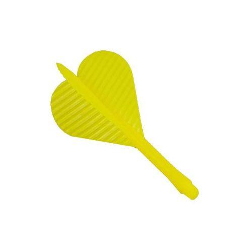 Piórko z trzonkiem plastikowym 2BA /żółte/