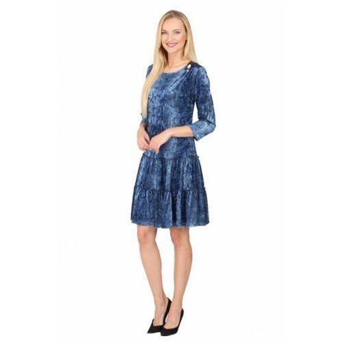 Margo collection Sukienka wizytowa model 993 blue