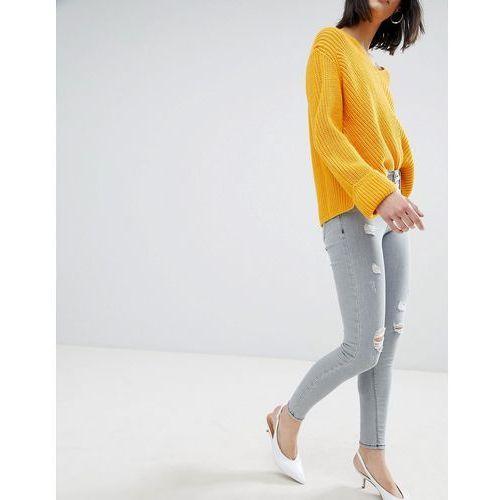 River Island Distressed Skinny Jeans - Grey