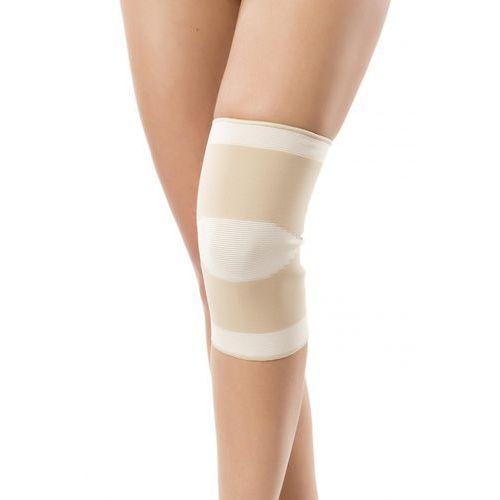 Opaska stawu kolanowego przeciwreumatyczna, bezszwowa z bursztynem l marki Pani teresa