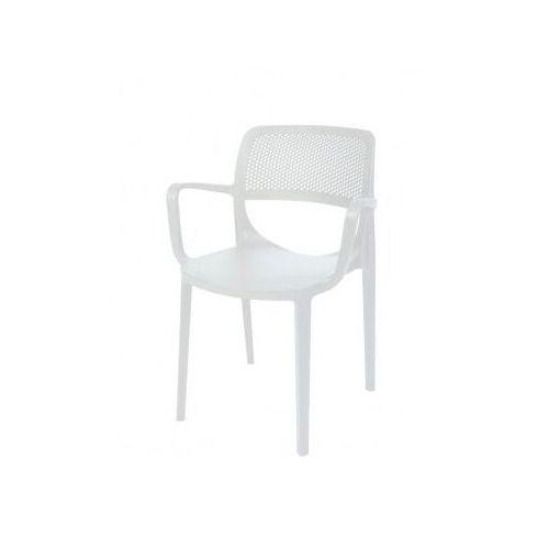 Xxlselect Krzesło do ogródków piwnych   białe   580x520x(h)820 mm
