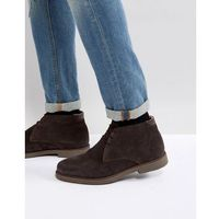 suede warm lining desert boots in brown - brown marki Pier one