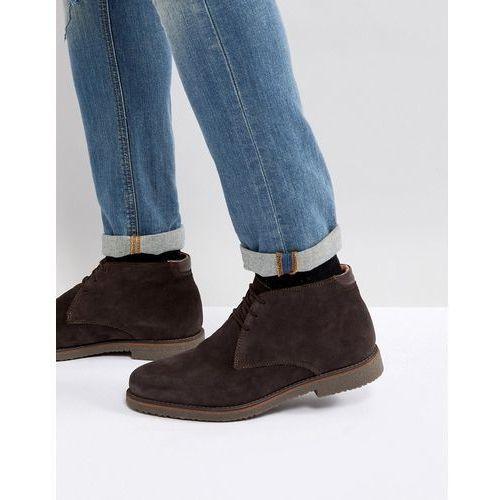 suede warm lining desert boots in brown - brown marki Pier one