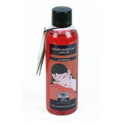 Jadalny olejek do masażu Shiatsu Luxury Body Oil 100 ml truskawkowy