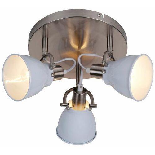 Plafon Zuma Line Pictor RLX94023-3W lampa oprawa sufitowa 3x40W E14 chrom/biały >>> RABATUJEMY do 20% KAŻDE zamówienie, kolor biały;czarny