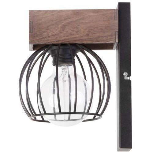 Kinkiet LAMPA ścienna MILAN 31577 Sigma industrialna OPRAWA metalowa klatka drewno brązowa, 31577