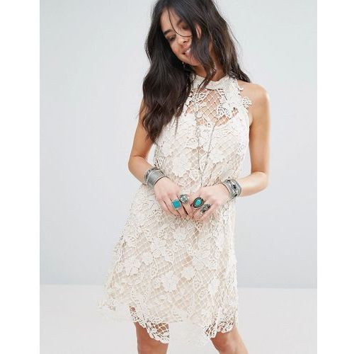 Free People Snowrop Trapeze Lace Party Dress - White, 1 rozmiar