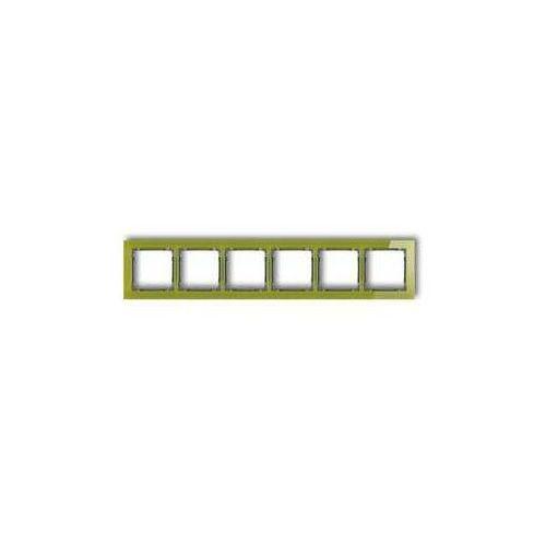 Ramka sześciokrotna Karlik Deco 2-11-DRS-6 efekt szkła spód grafitowy ramka zielona