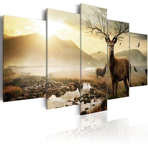 Artgeist Obraz - tundra i jelenie