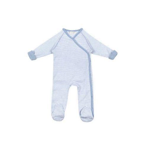 SENSE ORGANICS Boys Baby Śpioszki RENUKA blue marl stripes, kolor niebieski