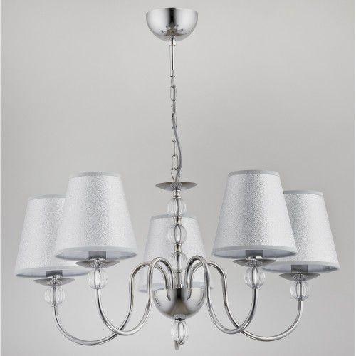 Lampa wisząca zwis Alfa Emanuelle 5x40W E14 chrom/srebrna 22795, 22795