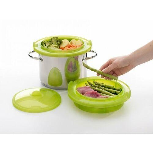 Garnek do gotowania na parze Lekue zielony (3400702V09U004), kolor zielony