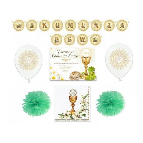 Party deco Zestaw dekoracji na i komunię świętą - 34 elementów