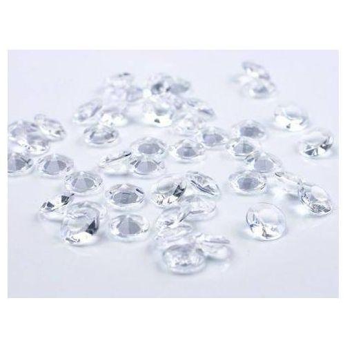 Diamentowe konfetti - bezbarwne - 12 mm - 100 szt. (5901157430786)