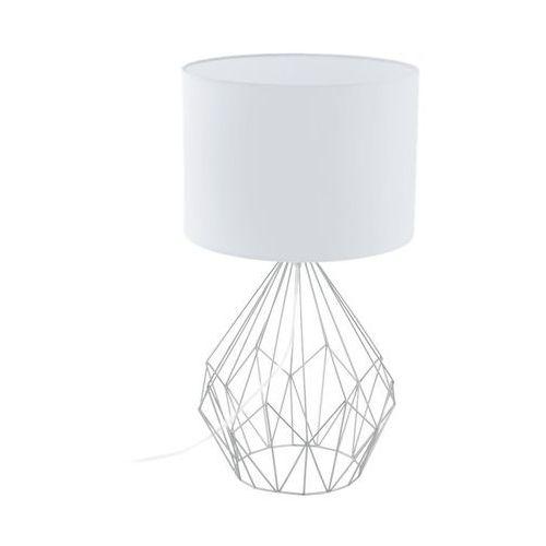 Lampka lampa stołowa oprawa Eglo Pedregal 1 1x60W E27 biała 95187 (9002759951870)
