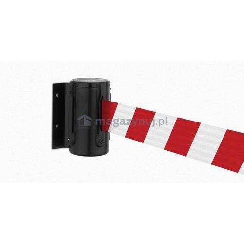 Rozwijana taśma ostrzegawcza + kaseta MINI na śruby, zapięcie standardowe (długość 3,65m)