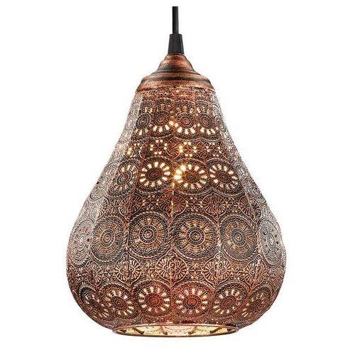 Trio JASMIN lampa wisząca Miedź, 1-punktowy - Vintage - Obszar wewnętrzny - JASMIN - Czas dostawy: od 4-8 dni roboczych, kolor Miedziany