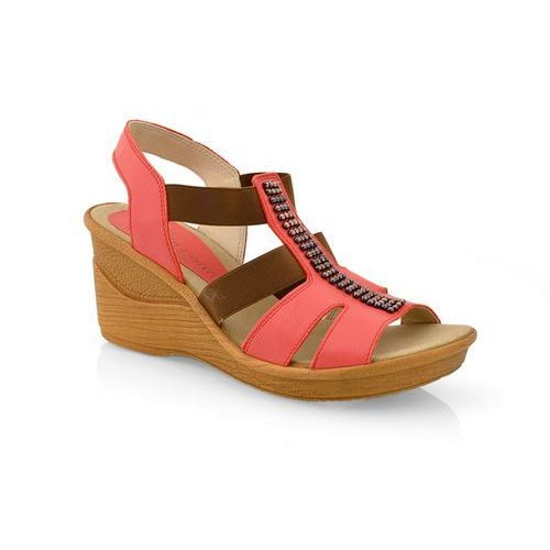 Sandały NIK 07-0182-002 czerwony, kolor czerwony