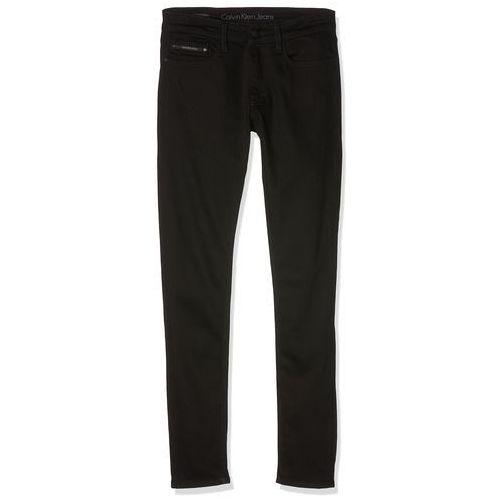 Calvin Klein Jeans SKINNY STAY BLACK Jeansy Slim fit black (8718934816735)