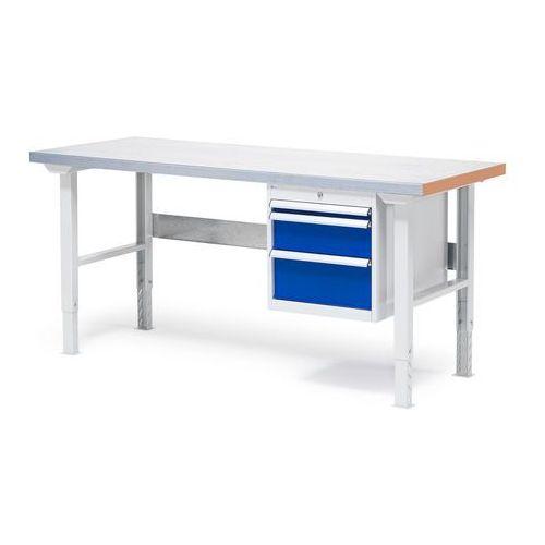 Stół warsztatowy o powierzchni z płyty stalowej 800x750x1500mm