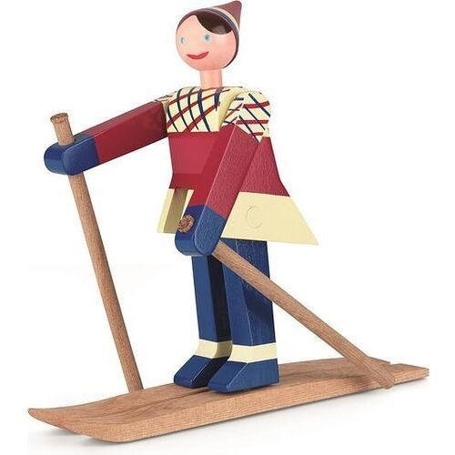 Figurka drewniana narciarz datti marki Kay bojesen
