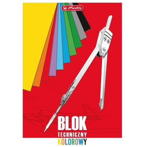 Herlitz Blok techniczny a4 10 kartek kolorowy -