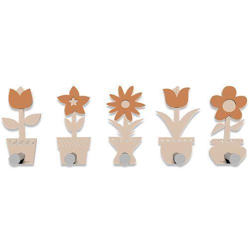 Wieszak ścienny little flowers różowo-piaskowy (13-003-21) marki Calleadesign