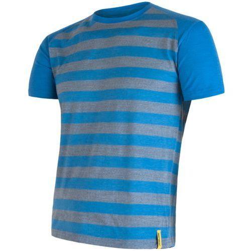 Sensor koszulka termoaktywna Merino Wool Active M paski blue S