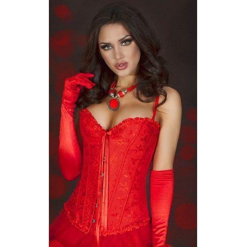 Chilirose Cr-3204 elegancki czerwony gorset satynowy, kategoria: gorsety erotyczne