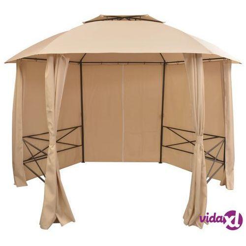 vidaXL Namiot ogrodowy z zasłonami, sześciokątny, 360x265 cm (8718475507291)