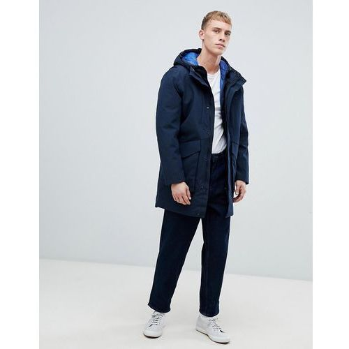 waterproof taped seam parka with removable puffer jacket - navy, Selected homme