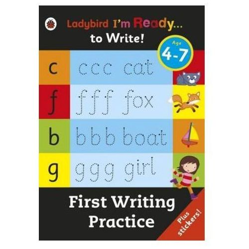 First Writing Practice: Ladybird I'm Ready To Write Sticker Activity Book (9780241205891)