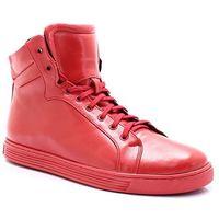 306s czerwone - wysokie buty ze skóry - czerwony, Kent