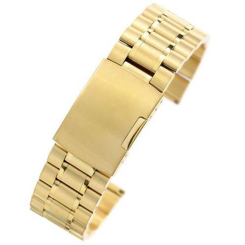 Złota stalowa bransoleta do zegarka SG2401- 24 mm
