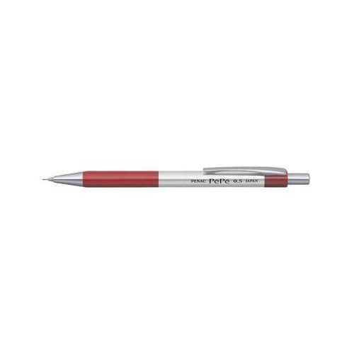 Ołówek automatyczny pepe 0,5mm, srebrno-czerwony marki Penac