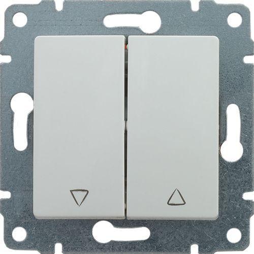 vena przycisk żaluzjowy z klawiszem, bez ramki, 16ax, 250v~, biały 510418 marki Kos