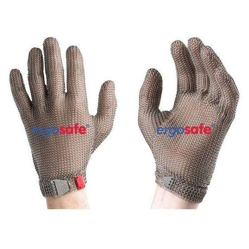 Rękawica ochronna ERGOSAFE, 5 palcowa, nierdzewna, biała, rozmiar 7, size S, HE351