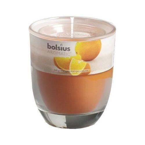 Bolsius 80/70 pomarańcza świeczka zapachowa w szkle