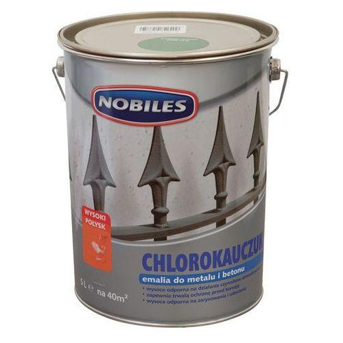 Emalia chlorokauczukowa Nobiles do metalu i betonu zielona liściasta 5 l, kolor zielony