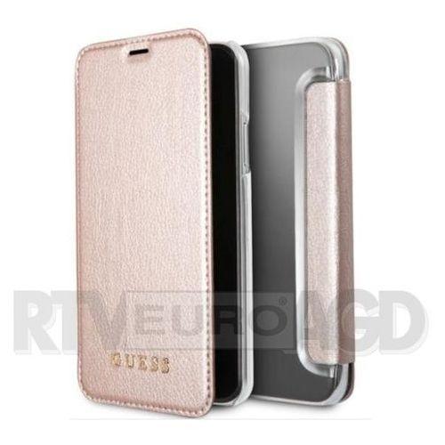 Guess GUFLBKPXIGLTRG iPhone X (różowo-złoty), GUFLBKPXIGLTRG