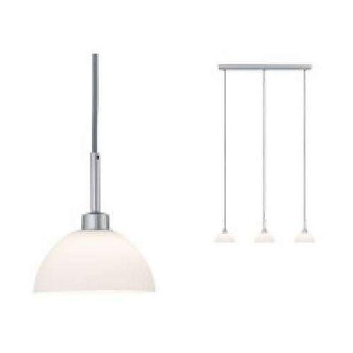 3-lampowy wisiorek Parana biały / matowy chrom bez lampy, max. 40W GU10, PAULMANN 70925