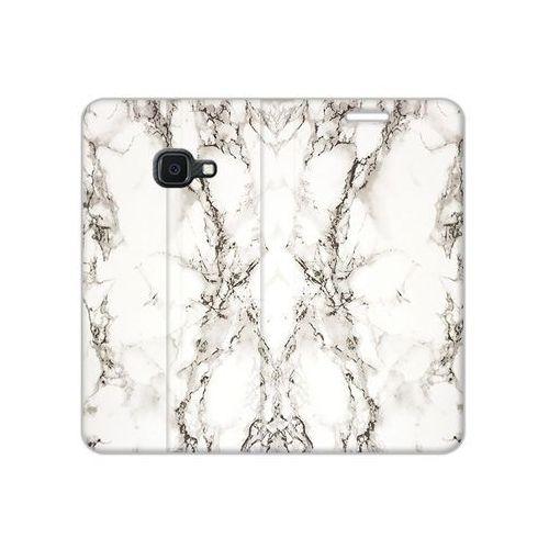 Samsung Galaxy Xcover 4S - etui na telefon Flex Book Fantastic - biały marmur